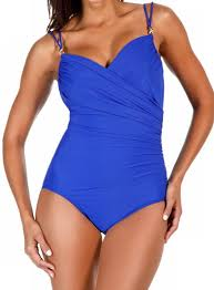 Miraclebody Solid Double Strap Captiva One Piece Swimsuit