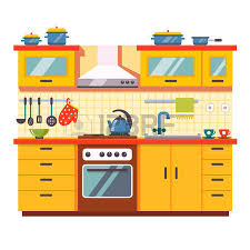 kitchen cabinet clipart. kitchen cabinet: wall interior. flat style vector illustration isolated on white background. cabinet clipart n