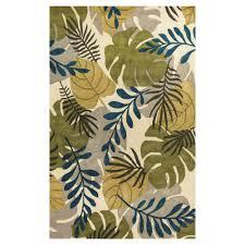 kas rugs palm leaf ivory 8 ft x 11 ft area rug