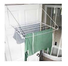 dryer that folds clothes. Image Is Loading Over-Door-Folding-Airer-Drying-Rack-Towel-Rail- Dryer That Folds Clothes