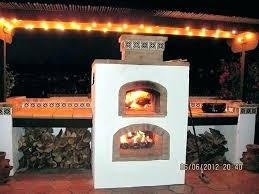 outdoor fireplace pizza oven exotic combo with prefab upper diy and plans