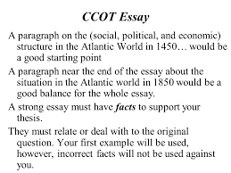 ccot essays ap world history ccot essay help desmond tutu homework continuity and chang over time essay asks what has changed and ccot essay a paragraph on