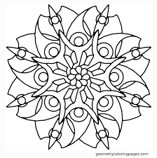 Blade Flower Geometry Coloring Pages New Floral Coloring Pages