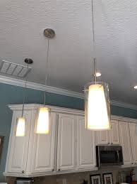 details about set of 3 overcounter pendant lights kitchen white chrome finish