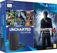 sony used playstation 4 500gb system black. sony playstation 4 (ps4) slim 1 tb with uncharted and collection used playstation 500gb system black a
