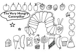 Very Hungry Caterpillar Coloring Pages Page Printable Ve Auchmar