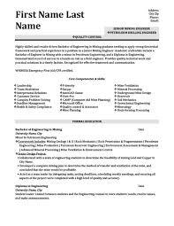 Mining Resume Templates Petroleum Drilling Engineer Resume Template