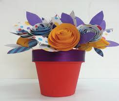 Paper Flower Pots Paper Flower Art Bright Star Kids