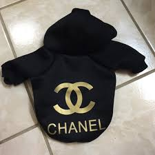 chanel hoodie. chanel other - chanel dog hoodie jacket
