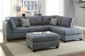 fabric sectional sofa ottoman set