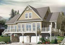 House plan W  V detail from DrummondHousePlans comRear view   BASE MODEL Mountain Country Rustic chalet house plan  large master suite
