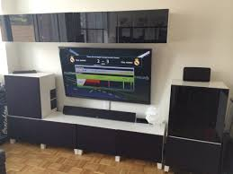 Home Theater Cabinet Cooling Home Theater Media Center Besta Hack Ikea Hackers Ikea Hackers