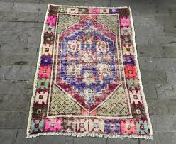turkish runner rug 2 8 3 9ft vintage oushak rug pink turkish rug urban runner rug tribal r