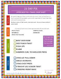 21 day fix upper body fix workout pdf a travel cheat sheet weigh to mainn