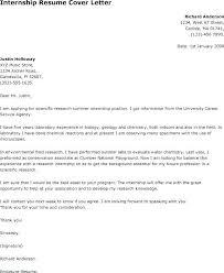 Sample Internship Cover Letter Nfcnbarroom Com