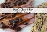 baked glazed ham with raisins