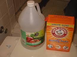 using vinegar and baking soda