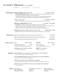 Resume Lynsey Grace Aia