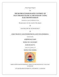 Project Seminar Term Paper Front Page Report On Microprocessor Based
