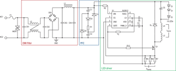 high power factor led replacement digikey electrical schematic
