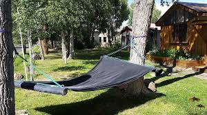Turn your old trampoline mat into a hammock! If you\u0027re kids are ...
