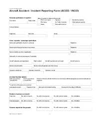 Health And Safety Incident Report Form Template Example