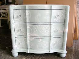 white wash furniture. white stencil with wash on a pale blue background gorgeous furniture
