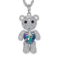 ginger lyne collection ginger lyne collection teddy bear movable pendant sterling silver waterwaves chain necklace com