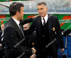 Luis Enrique Mauro Tassotti Roma coach Luis Redaktionelles Stockfoto –  Stockbild