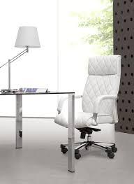 Vittoria White Leather Modern Office Chair