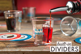 slot shot being filled with included drink pourer