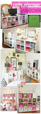 DIY Cube Storage Makeover - for the girls room
