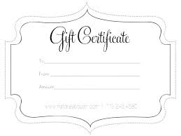 Gift Certificate Template Word Free Download Gulflifa Co