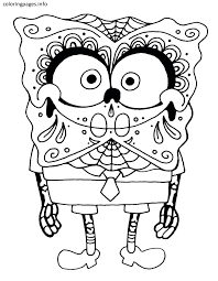Sugar Skull Coloring Pages Free Coloring Pages At
