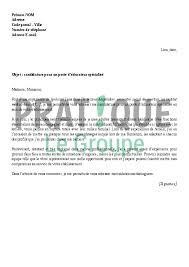 Modèle de lettre de motivation gratuit pour un stage : Lettre De Motivation Pour Un Emploi D Educateur Specialise Pratique Fr