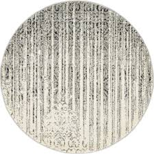 unique loom del mar gray 3 3 x 3 3 round rug