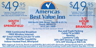 Americas Best Value Inn Springfield Midwest Travel Buddy Missouri Midwest Hotel Coupons