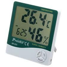 proskit nt 311 digital temperature humidity meter with clock alarm clock calendar multi functions 2 years warranty