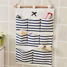 Sundry Cotton <b>Wall Hanging Organizer</b> Bag Multi-layer Holder ...