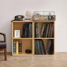 Natural Closet Organizers Storage Cubes Cube Storage  Vinyl Record Lp C95
