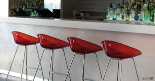 red bar stools. Gliss Red Bar Stools