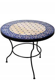 mosaic table sonne beige blue 60cm