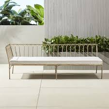 Modern Metal Patio Furniture Le Rve Left Arm Daybed Modern Metal