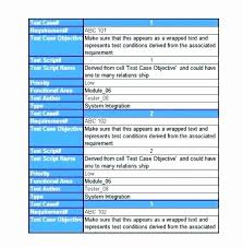 Software Test Case Template Test Plan Template Excel Unique Test Case Template Excel Plan