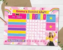Activity Chart Kids Details About Wiggles Emma Personalise Reward Chart Behaviour Chore Kids Activity Chart Potty