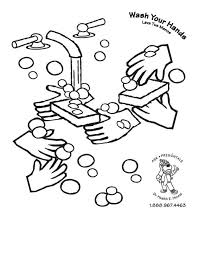 Students learn about the different shapes germs. Hand Washing For Kids Coloring Pages Coloring Home