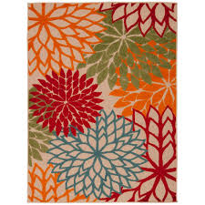 nourison aloha green 7 ft 10 in x 10 ft 6 in indoor outdoor area rug 242693 the home depot