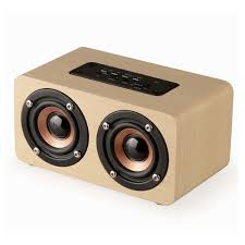 speakers with bass. fashion dual-horn wooden bluetooth speaker with bass music sound intelligent calls handsfree tf card speakers u