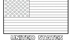 Coloring Page American Flag Flag Coloring Page Preschool Printable