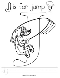 Small Picture Free coloring pages of of the letter j Clip Art Library